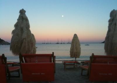 Tramonto dalla spiaggia di Fetovaia all'Isola d'Elba