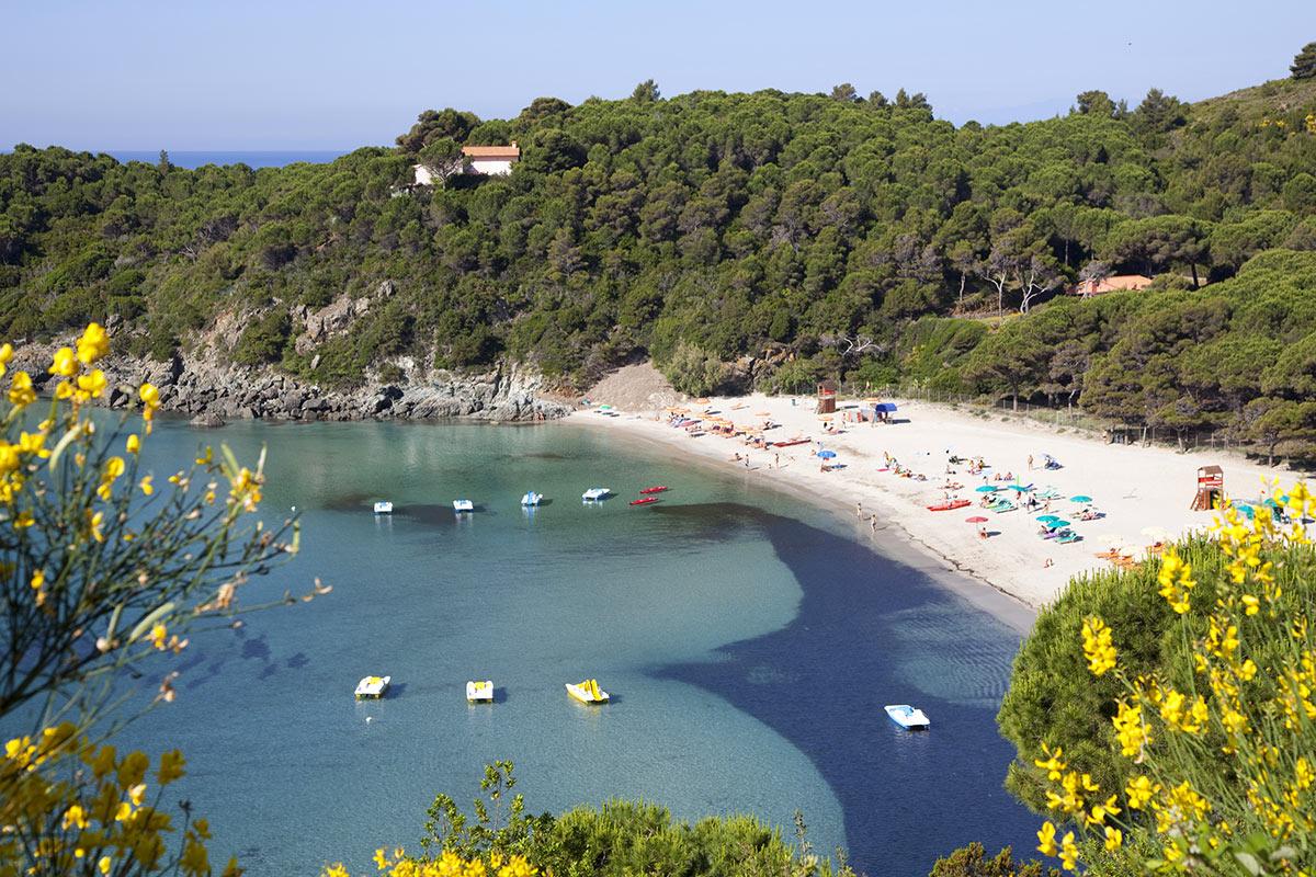 Isola d'Elba Fetovaia Bay and beach