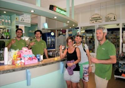 Il bar del Pino Solitario sulla Spiaggia di Fetovaia