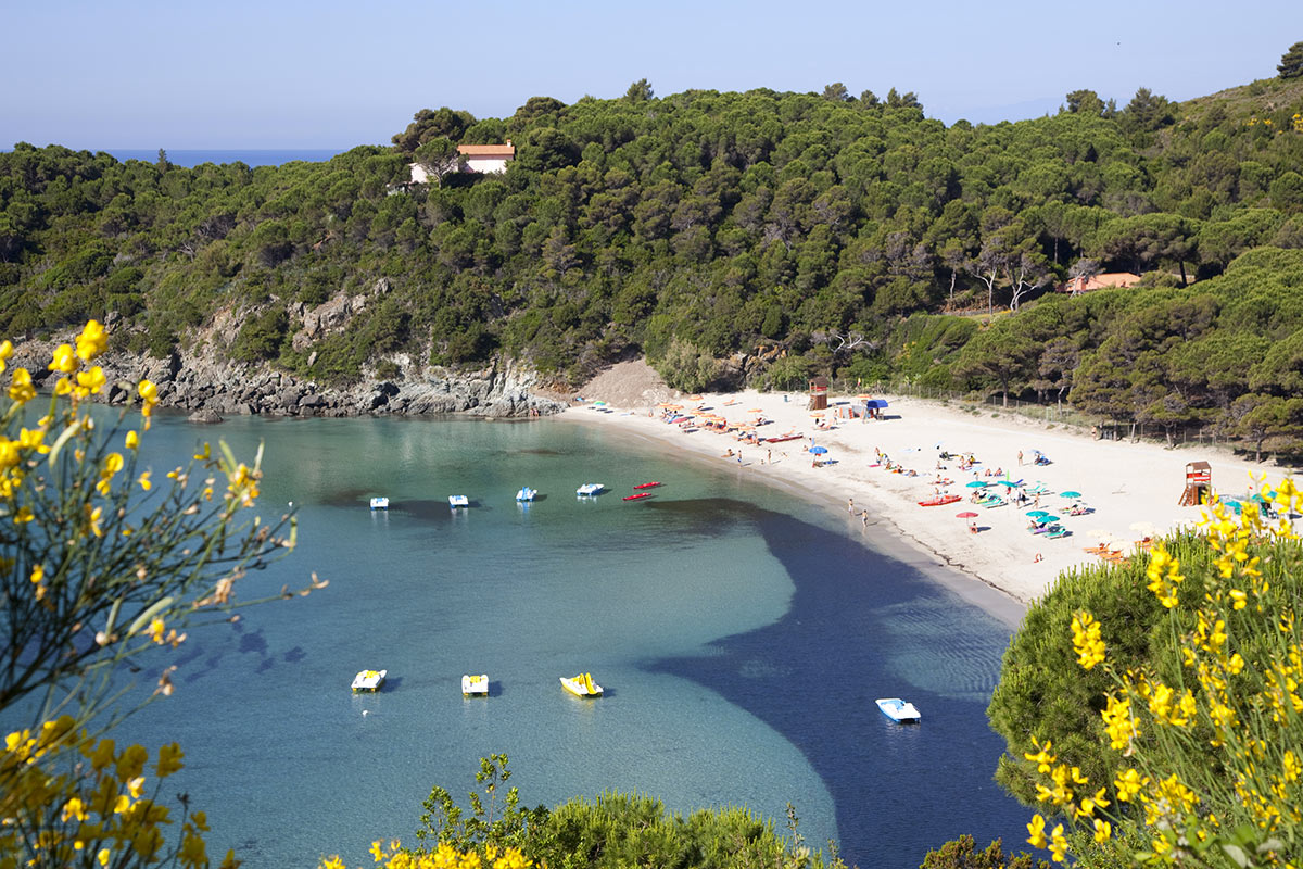 Isola d'Elba Fetovaia Bay and beach